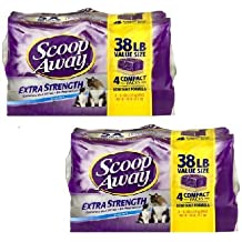 Scoop Away Extra Strength Clumping Cat Litter Scented - 4 PK, 9.5 LB (4 pck) (2-4pack)