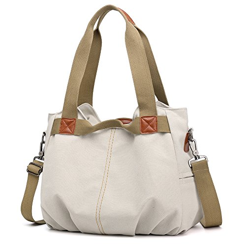 Beige Tote Handbags Women's Bag Canvas SCIEN 1fAxawq8x