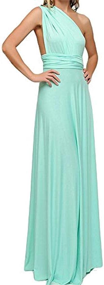 Vestido de Fiesta de Mujer Sin Mangas de Boho Maxi Largo Vestidos de C/óctel Piso-Longitud Multi-Way Dresses