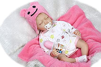 Lifelike Reborn Baby Doll Soft Silicone Realistic Newborn Sleeping Boy Kids Gift