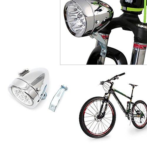 NNDA CO Retro Bicycle Bike Front Light Lamp 7 LED Fixie Headlight Headlamp with Bracket by NNDA CO (Image #1)