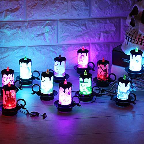 12Pcs Simulation Small Candle Lamp Halloween Desktop Decoration for Living Room, Bedroom, Shop Window, Bar Decoration]()