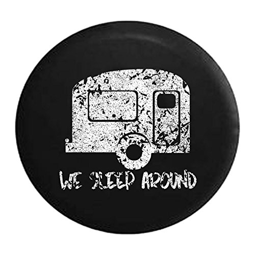 Pike Outdoors Distressed - Spare Tire Cover We Sleep Around Travel Trailer RV Camper 29 -