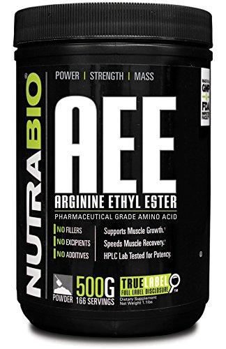 NutraBio L-Arginine Ethyl Ester Powder - 500 Grams