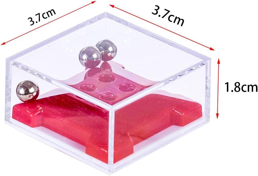 Polai 10Pcs Petits Cubes Casse-t/ête Labyrinthe 3D Puzzle Cadeaux pour Calendrier de Lavent