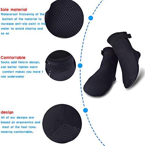 JIASUQI Damen und Herren Sommer Outdoor Wasserschuhe Aqua Socken für Beach Swim Surf Yoga Übung Schwarz 2