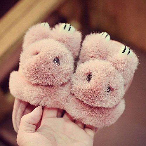Herbst und Winter Kinder Süße Baumwolle Hausschuhe Jungen und Mädchen Baby Rutschfeste Warme Paket mit Indoor Hause Eltern-Kind-Schuhe,EIN,40-41