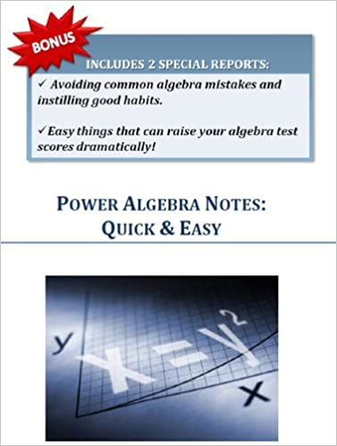 eBooks for Kindle gratis Algebra Power Notes Quick And Easy PDF PDB