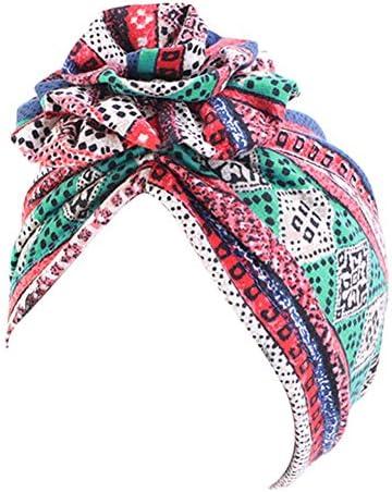 Partong Damen Baumwolle Bandana, Böhmischen Kopftuch Elastische Headscarf Sommerhut Muslimische Hijab Headwrap Schals Beanie Kopf Accessoires für Krebs,Chemo