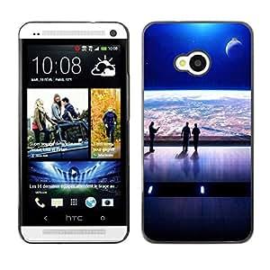 PC/Aluminum Funda Carcasa protectora para HTC One M7 Mass Game Spaceship View / JUSTGO PHONE PROTECTOR