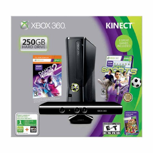 Microsoft Xbox 360 250GB with Kinect Holiday Value Bundle
