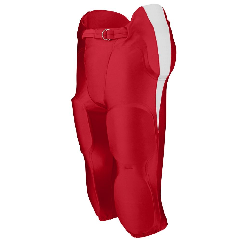 Augusta Sportswear Boys' Kick Off Integrated Football Pant M Red/White