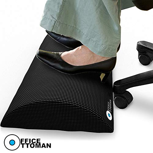 Foot Rest Under Desk Non-Slip Ergonomic Footrest Foam Cushion - Excellent Under Desk Leg Clearance,...