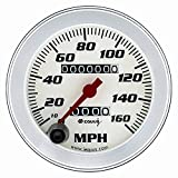 3-3/8'' Speedometer White with Silver Bezel Equus 8076
