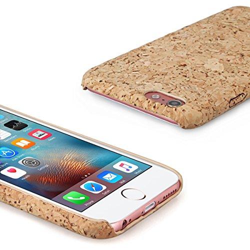 Alienwork Schutzhülle für iPhone 6/6s massive Naturholz Hülle Case Bumper handgefertigt Stoßfest Holz gelb AP6S31-01