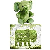 KOHLS CARE Plush Giraffe Bear Elephant Book Toy Figure 2 PC Set