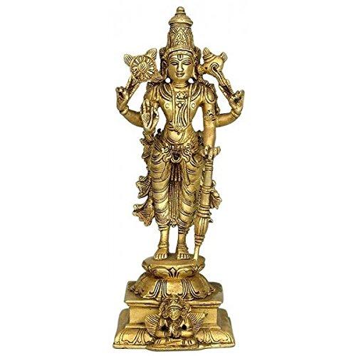 Lord Narayan Traditional Hindu Art Brass Sculpture