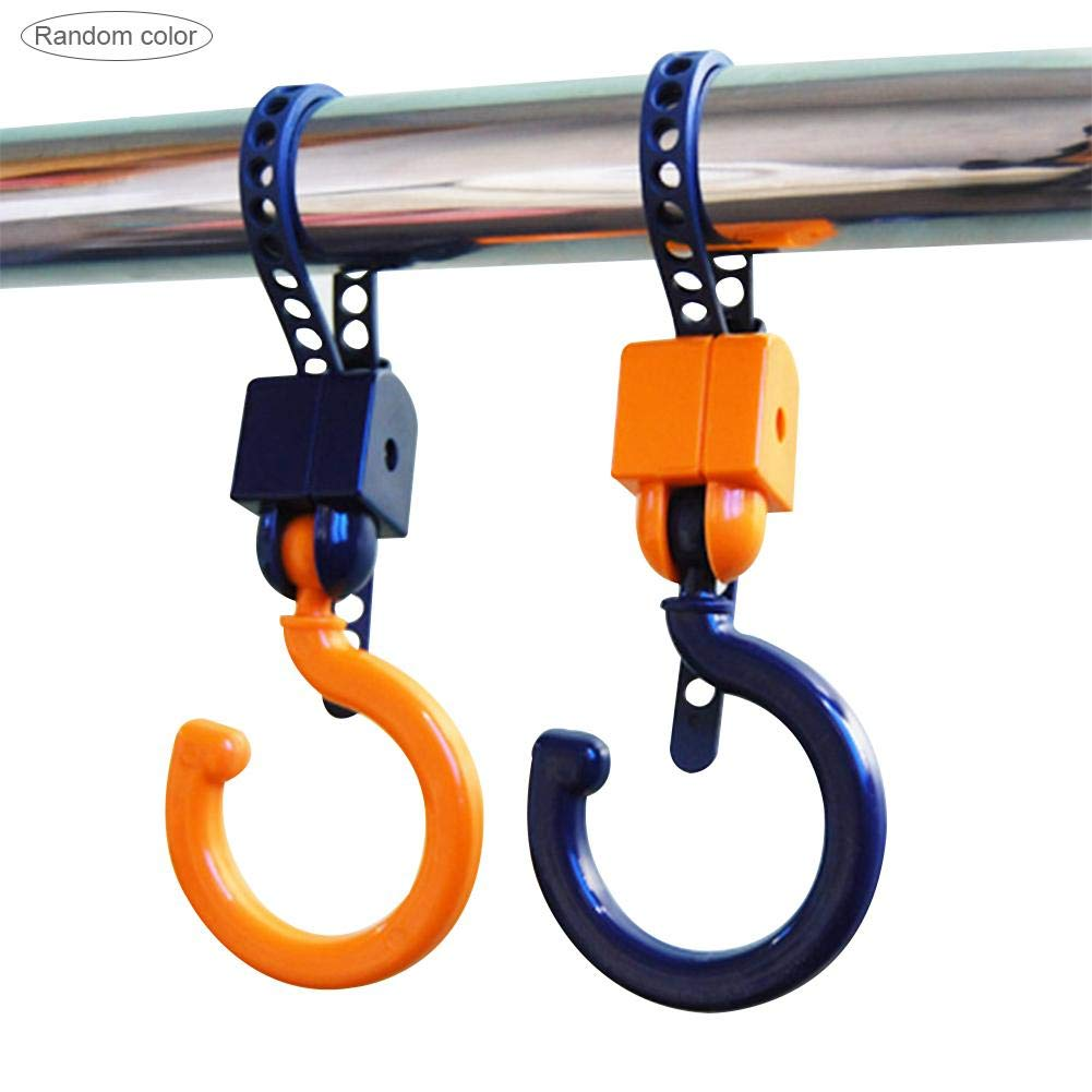Walking Or Shopping Stroller Hook 2 Pack of Multi Purpose Hooks Hanger for Bags- Great Accessory for Mommy When Jogging