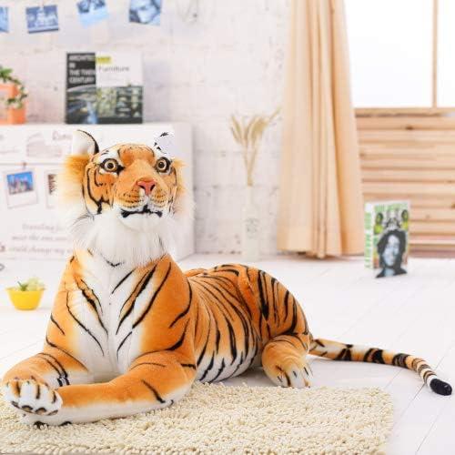 Almohada De Peluche De Animales De 30 A 120 Cm Tigre Blanco Gigante Juguetes De Felpa De Peluche Suave Muñeca De Animal Color Amarillo Tigre Negro Leopardo Juguete Para Niños 2 A