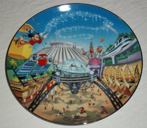 Bradford Exchange Walt Disney World 25th Anniversary Tomorrowland Plate
