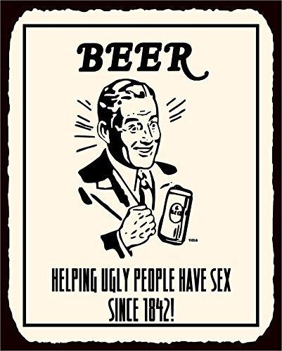 Vehfa Cartel de Metal de Aluminio con Texto en Inglés Beer ...