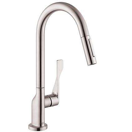 Axor 39835801 Citterio Kitchen Faucet, Steel Optik - Touch On ...
