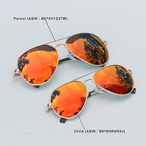 Et Femme Reflété Mode Classique Cadre De Soleil Homme orange Rouge Lunettes Aviator Or Métal Miroir AMZTM REVO Lentilles Polarisées Sfw5qS8
