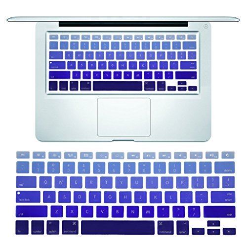 Arrontop - Ultra thin Keyboard Cover Silicone Skin for MacBook Pro 13 15 17 (with or w/out Retina Display) iMac and MacBook Air 13 - Ombre Blue [並行輸入品] B077MSK7QP