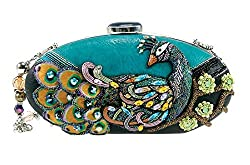 Pretty Bird Beaded Peackcock Handbag
