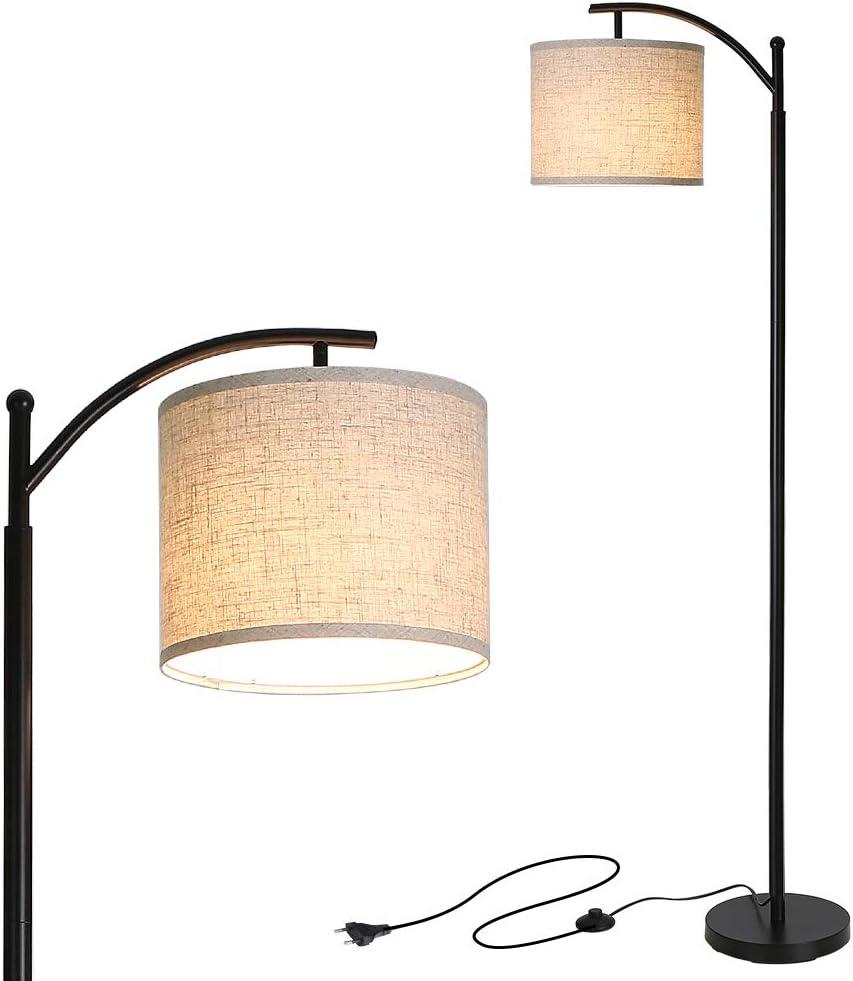 Lampadaire sur Pied Salon, Tomshine Lampadaire Moderne avec 9W LED ampoule, Lampadaire Arc Classique, Lampadaire Réglable, E26/E27 Socket,Lampadaire Economique pour Salon, Chambre, Bureau