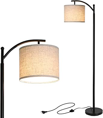Lámpara de Pie, Tomshine Lámpara de Pie Salon LED con Pantalla Colgante,E27 Enchufe Desmontable,para Salón, Dormitorio, Oficina(9W Luz Cálida LED Bombilla Incluida): Amazon.es: Iluminación