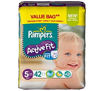 Pampers Couches Active Fit Taille 5 Junior 11 25 Kg Format