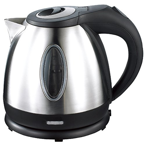 Culinary Edge 1.2 Liter Electric Cordless Stainless Steel Tea Fast Water Kettle with Auto Shut-off & 360 Swivel Base, Black by Culinary Edge