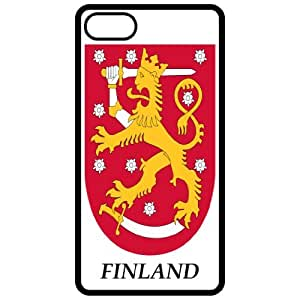 Finland - Coat Of Arms Flag Emblem Black Apple Iphone 5 Cell Phone Case - Cover