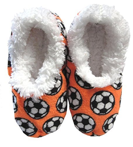 Snoozies Soccer Slippers Soccer Slippers Snoozies Orange Soccer Snoozies Orange vwqUxYXg
