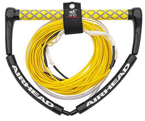 3 Section Ski (Airhead DYNEEMA TANGLE FREE Wakeboard Rope, Electric Yellow)