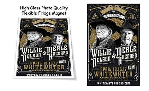 b6b7e726a Willie Nelson Merle Haggard 2016 Concert Poster 3