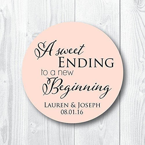 (A Sweet Ending to a New Beginning Favor Stickers)