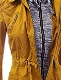 FASHION BOOMY Women's Zip Up Safari Military Anorak Jacket with Hood Drawstring - Regular and Plus Sizes Small NL-Mustard