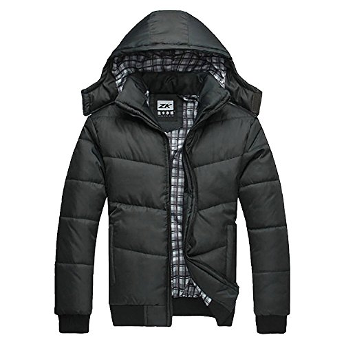 Zip Winter Jacket Outwear Men Imixcity Black Warm Down Hoodie Coat Clothes Clothing Hooded Parka Eq8UUtFw1