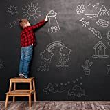 Blackboard Vinyl Sticker Chalkboard Wall Decal Contact Paper for School Home and Office 60 x 200CM