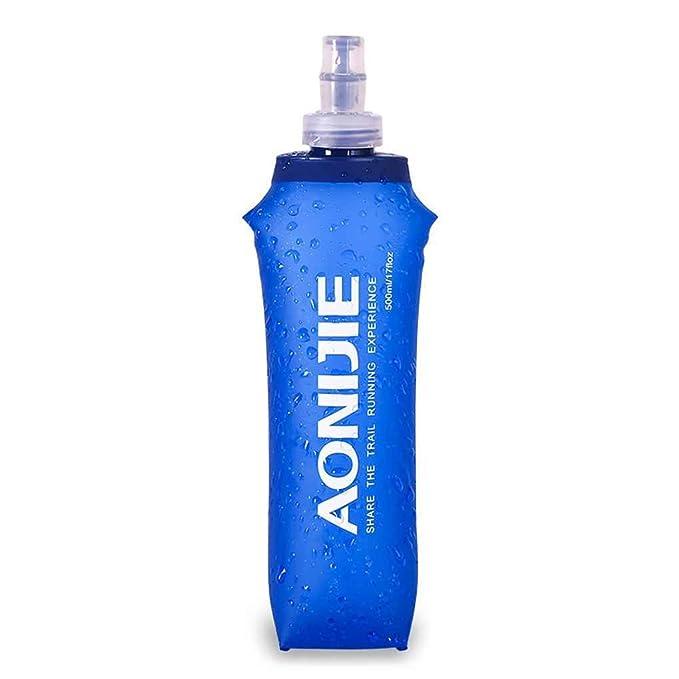 Elenxs Trinkflasche faltbar 250 ml//500 ml//170 ml aus weichem Kunststoff