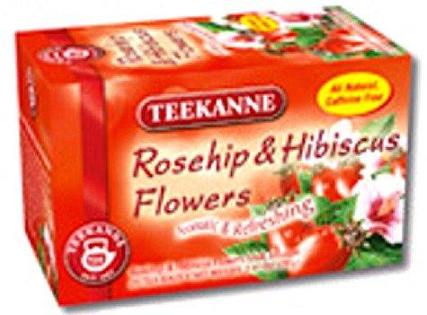Teekanne Rose (Teekanne Rosehip & Hibiscus Flowers Herbal Tea (20 Tea)