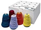 Sax Yarn Assortment Dispenser Box, Assorted Colors, Pack of 16