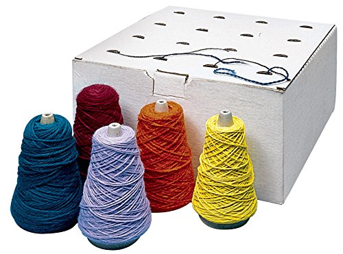 Sax Yarn Assortment Dispenser Box, Assorted Colors, Pack of 16 by Trait-Tex