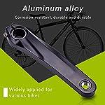 Yosoo-Health-Gear-Pedivella-per-Bici-da-170-mm-pedivella-Sinistra-per-Bicicletta-in-Lega-di-Alluminio-per-Bicicletta-da-Strada-MTB-BMX-Compatibile-per-guarnitura-590610-SLX-XT-XTR