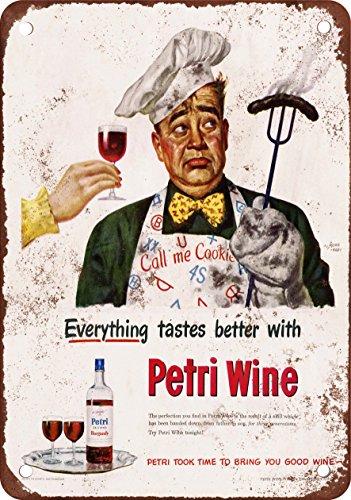 """7"""" x 10"""" Metal Sign - 1949 Petri Wine - Vintage Look Repr..."""