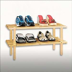 Doble estantería para zapatos - Madera de abeto