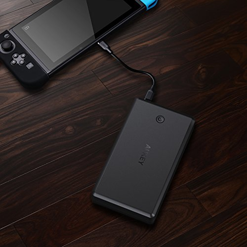 AUKEY 30000mAh USB C convenient Charger with the help of short bill 30 potential Bank 3 USB Outputs Battery Pack for Nintendo Switch iPhone 8 7 Plus and much more trave Chargers