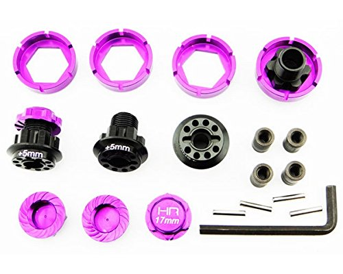 Hot Racing Radio HSF10X07 17mm Flux Warlock Hex W Serrated Nuts Savage Flux Control Parts